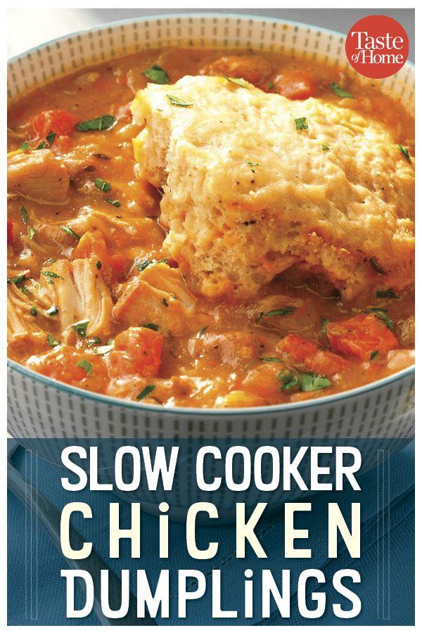 Slow Cooker Chicken & Dumplings #chickendumplingscrockpot
