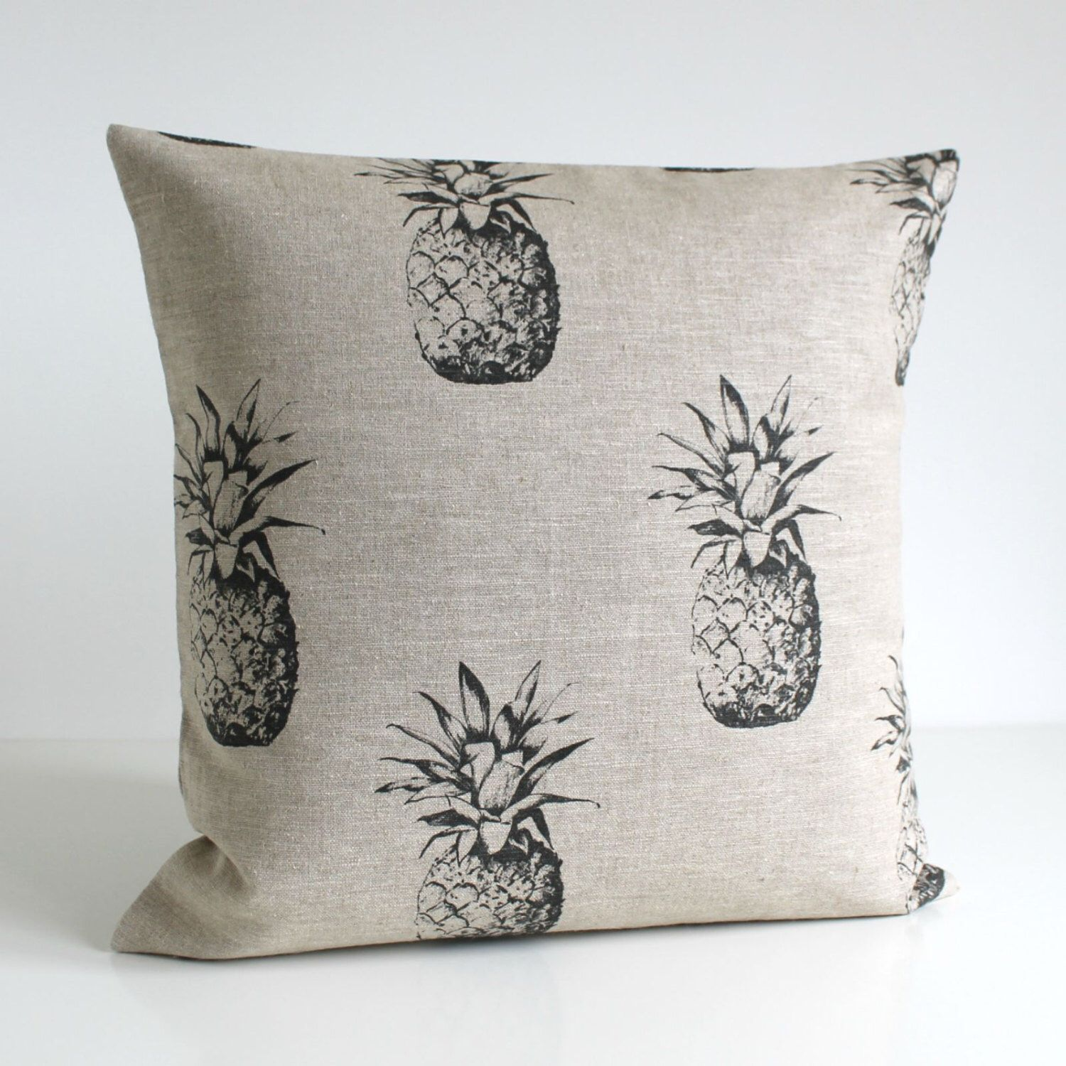 17x17 pillow cover, 17% linen, 17 Inch Pillow Cover, Pineapple ...