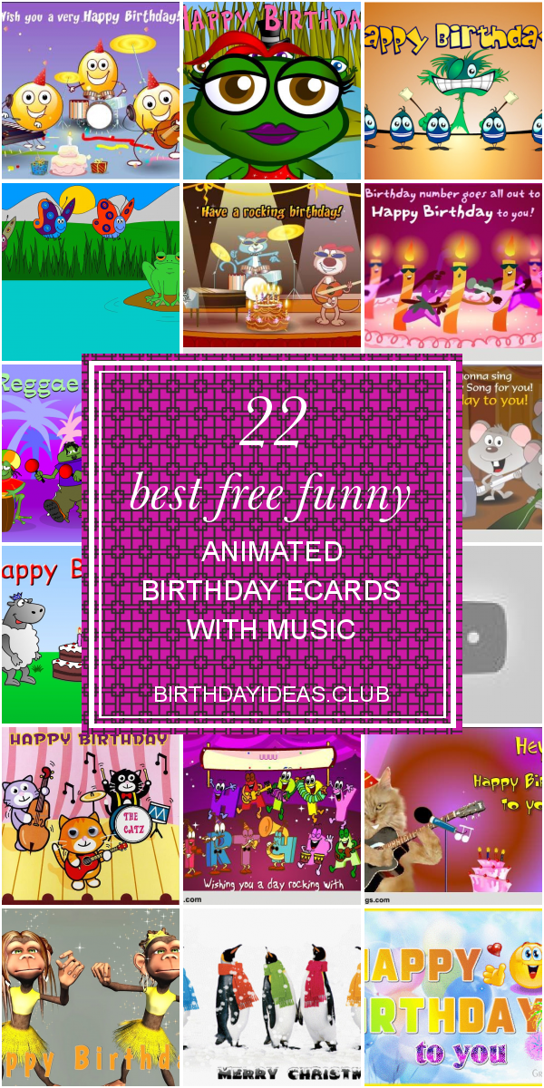 Sensational 22 Best Free Funny Animated Birthday Ecards With Music With Personalised Birthday Cards Rectzonderlifede