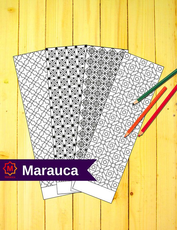 4 bookmarks coloring pages printable moroccan mosaic islamic art arabic instant download mosaic coloring bookmark mosaic tile morocco