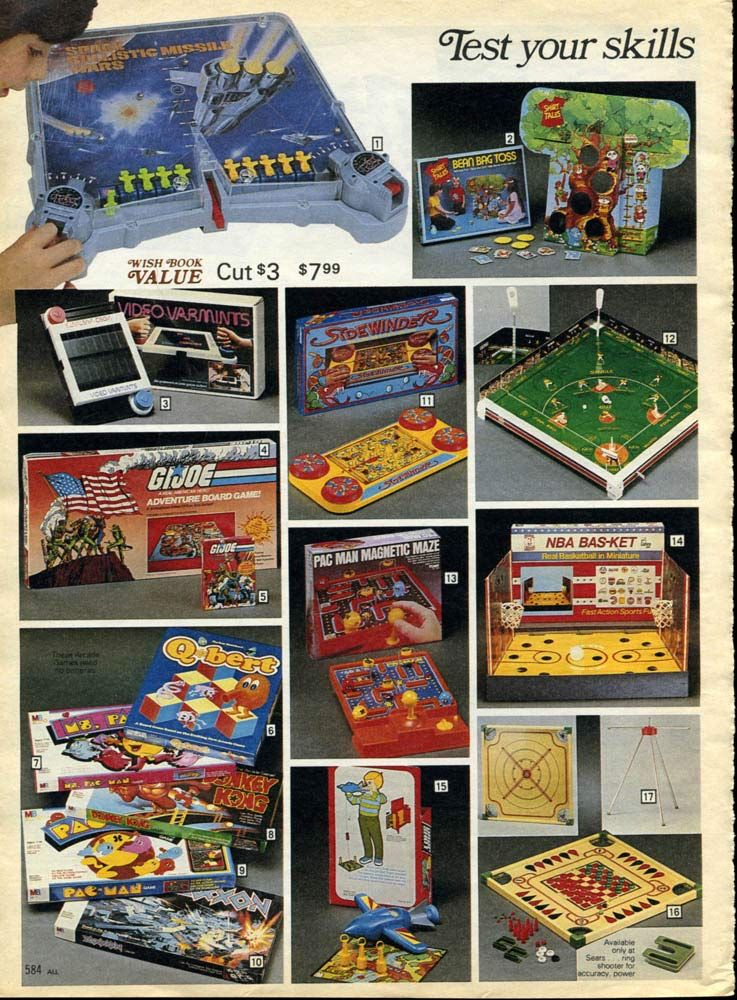 Board Games from a 1983 catalog vintage 1980s toys