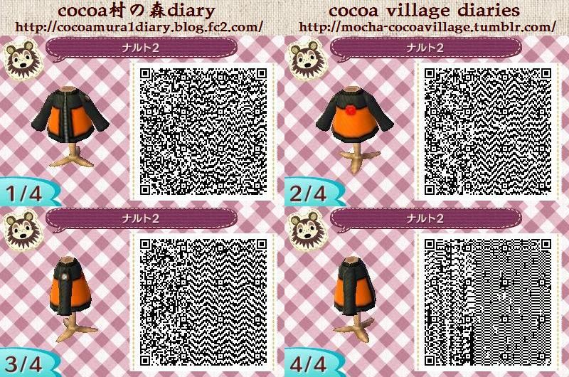 Animal Crossing Naruto Shippuden Cosplay Qr Codes Animal