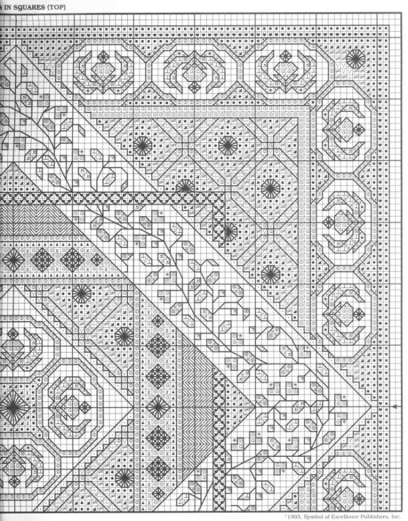 Blackwork cushion pattern part 4 | Blackwork designs | Pinterest ...