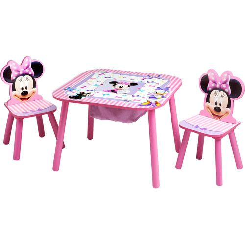 Disney Minnie Mouse Storage Table And Chairs Set: Kidsu0027 U0026 Teen Rooms :  Walmart