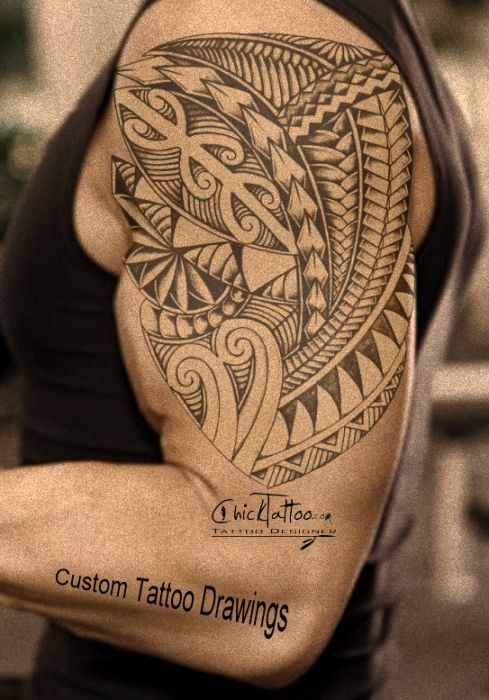 custom tattoo designs drawings polynesian style and native style tattoos. Black Bedroom Furniture Sets. Home Design Ideas
