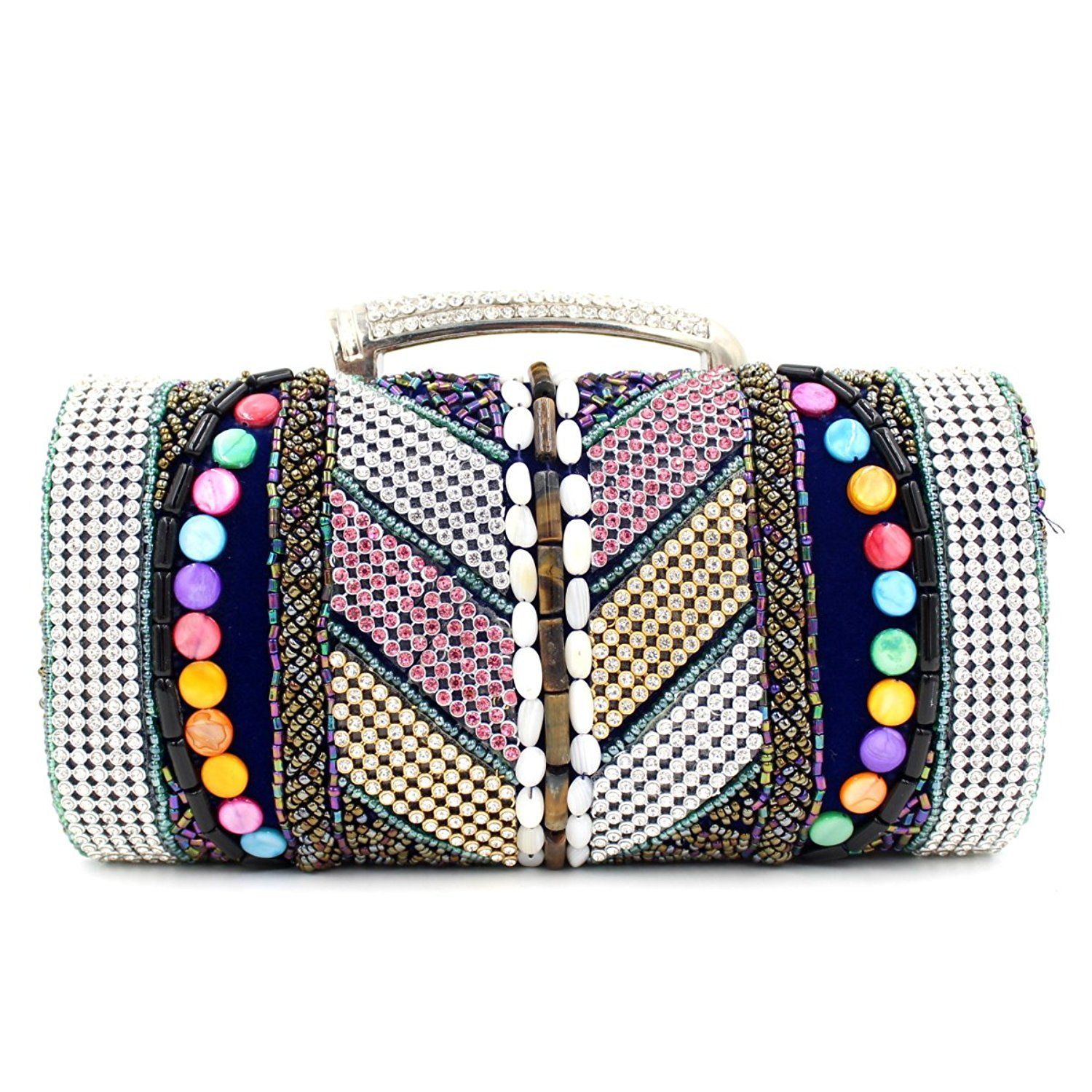 Milisente 2016 New National Women Beaded Evening Clutch Bag High Quality Small Wedding Party Bag ** To view further, visit now : Evening Handbags