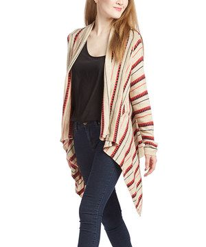 Love this Taupe Mariah Open Cardigan by Voom on #zulily! #zulilyfinds