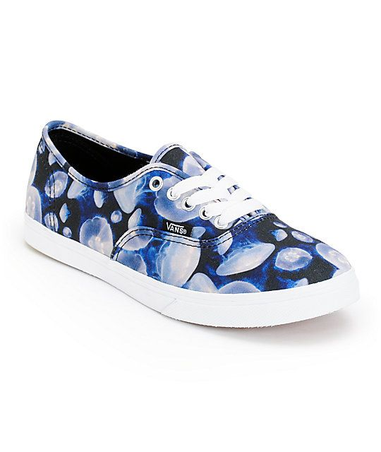 167caffd08e712 Get aquatic inspired style in the Vans Authentic Lo Pro Digi Jellyfish  Black and White shoe
