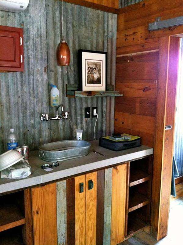 30 Inspiring Rustic Bathroom Ideas For Cozy Home Rustic Bathrooms Green Houses And Bench