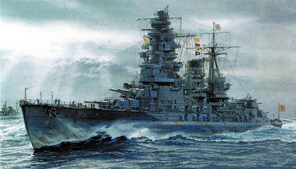 戦艦長門が進む壁紙