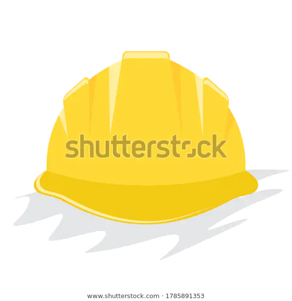 Yellow Helmet Construction Hardhat Flat Solid Stock Vector Royalty Free 1785891353 Hard Hats Helmet Color Vector