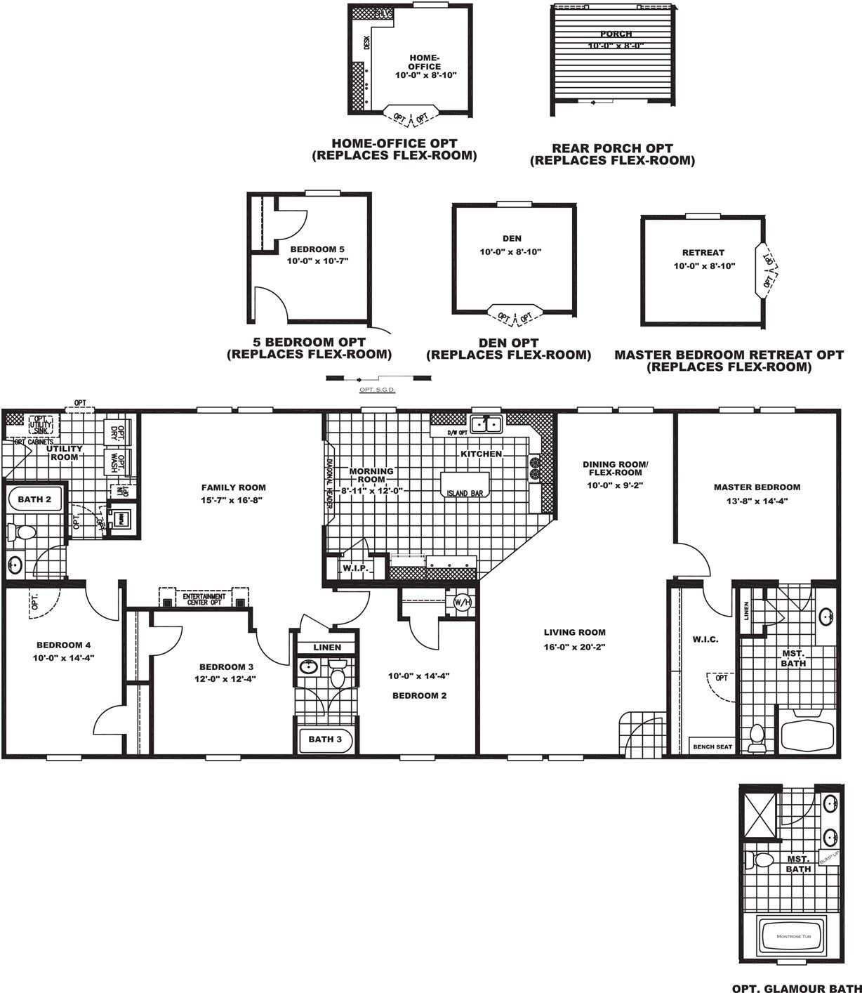 Brookline flex Clayton homes, Floor plans, Mobile home
