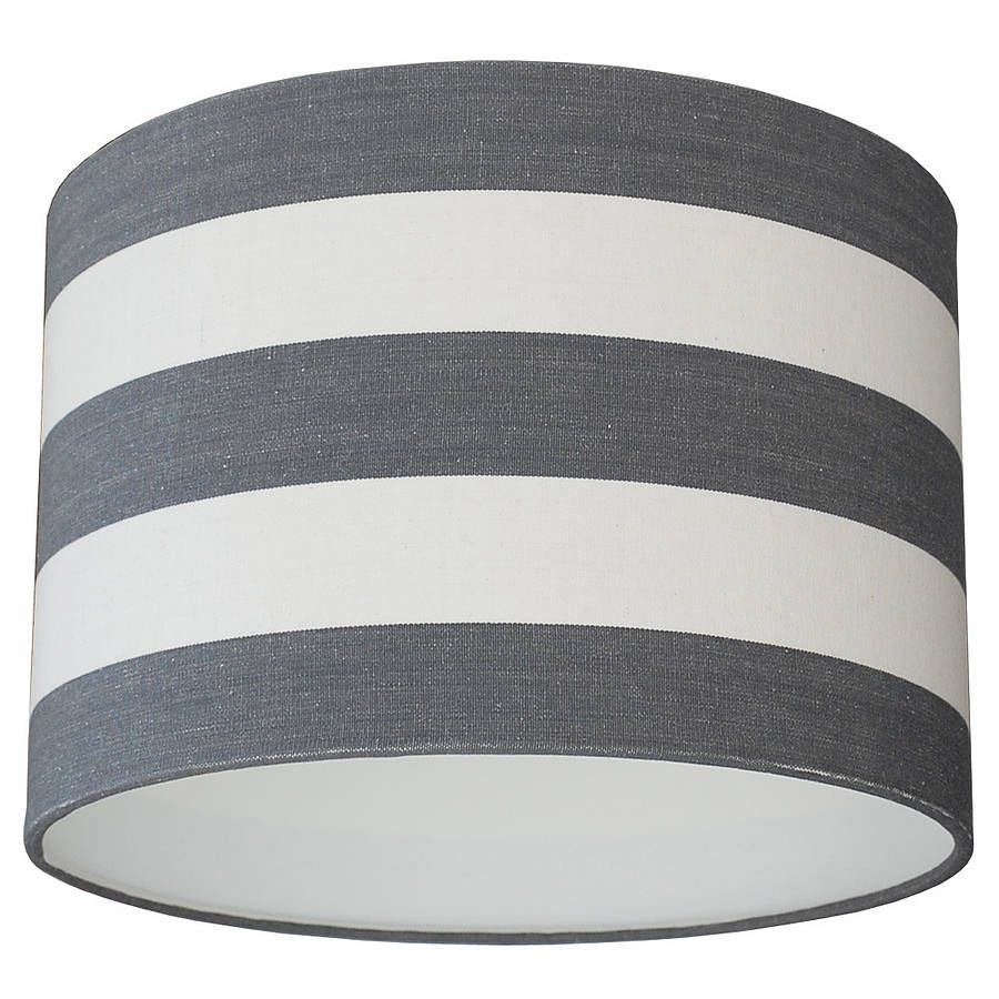 Grey and white deckchair stripe lampshade ceiling pendant grey and white deckchair stripe lampshade aloadofball Images