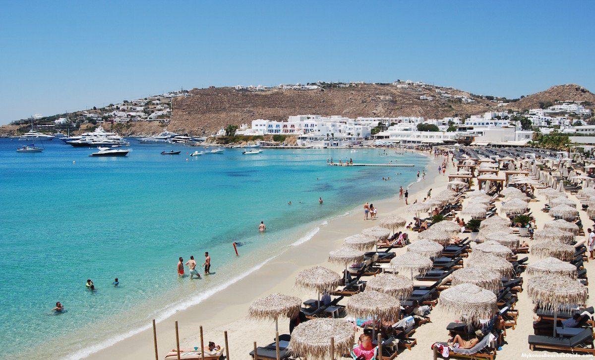 Platys Gialos Beach Mykonos Greece