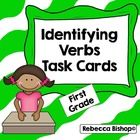 Verbs Task Cards  Support the Common Core and TEKS CCSS.ELA-Literacy.L.1.1 and TEKS Language Arts / Reading 1.6A - identifying words that name acti...