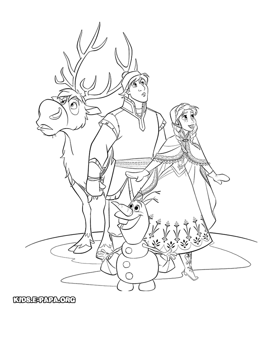 Pin by My Inv.reklam on РАСКРАСКА  Disney coloring pages, Frozen