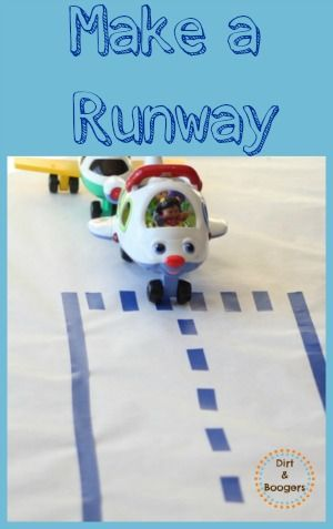 574646830 A super simple way to make a reusable airplane runway for kids.