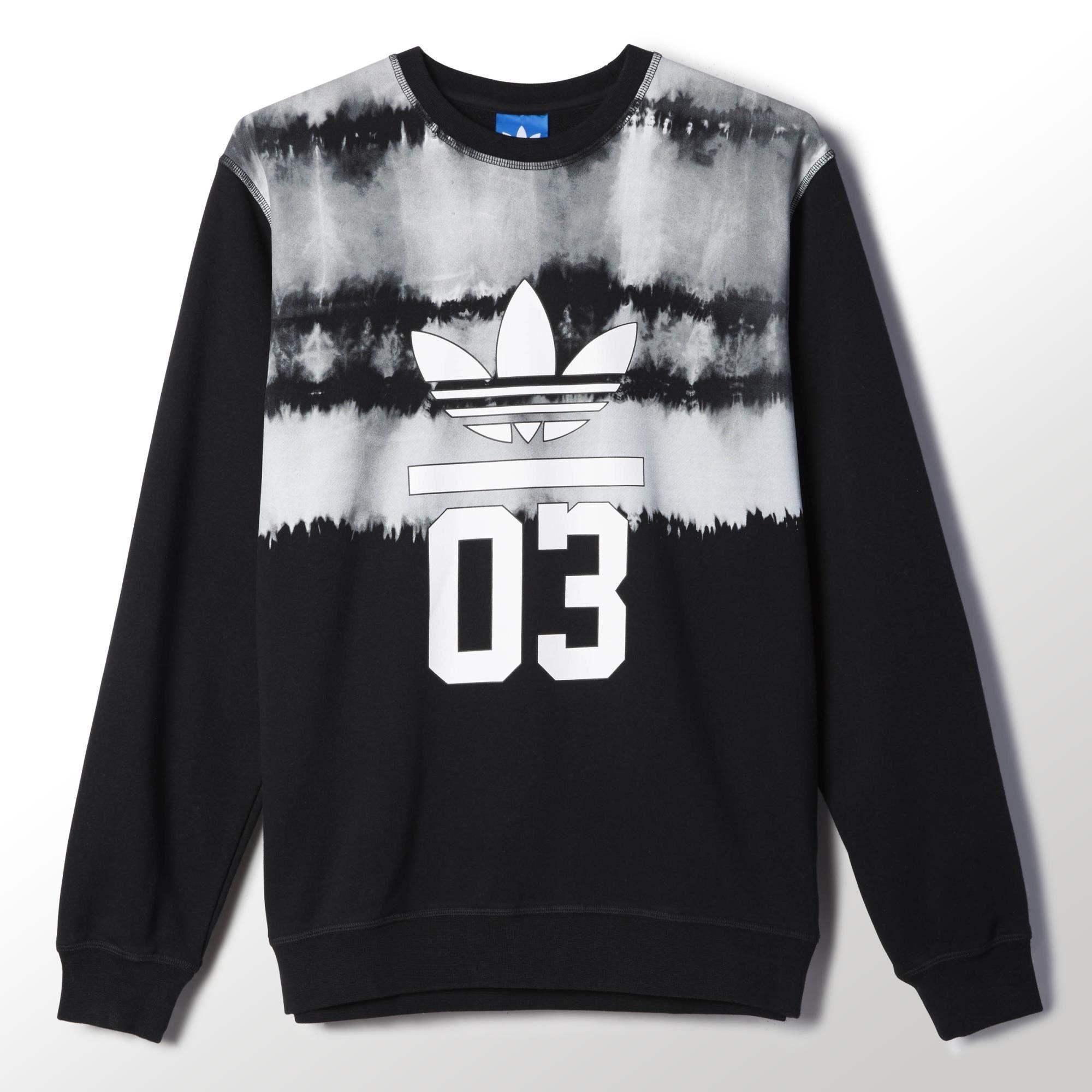 Adidas 3foil Printed Crew Sweatshirt Adidas Australia Sweatshirts Crew Sweatshirts Fashion [ 2000 x 2000 Pixel ]