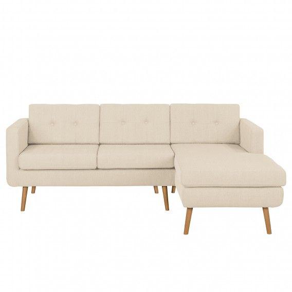 Canapé d angle Croom Tissu structuré home24