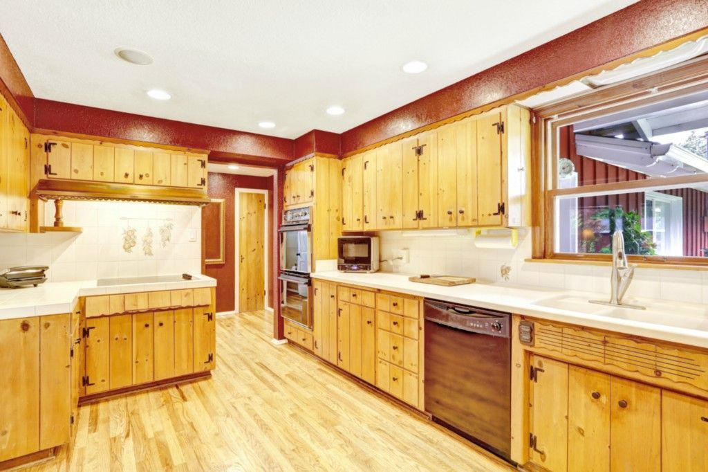 Rustic Kitchen with Timber Country Cabinetry Custom Knotty ...