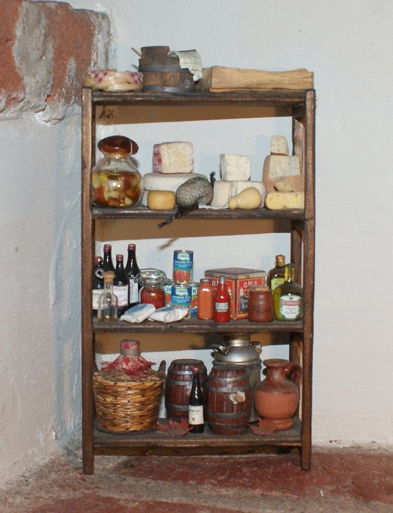 Dollhouse Shelf Rack Miniature Dollhouse Kitchen Wooden Furniture Rack Spice