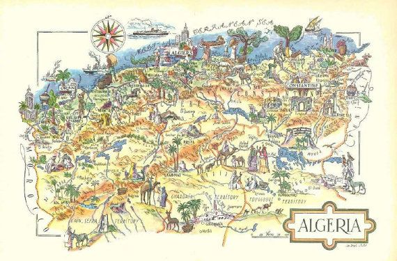 Image result for travel map of Algeria