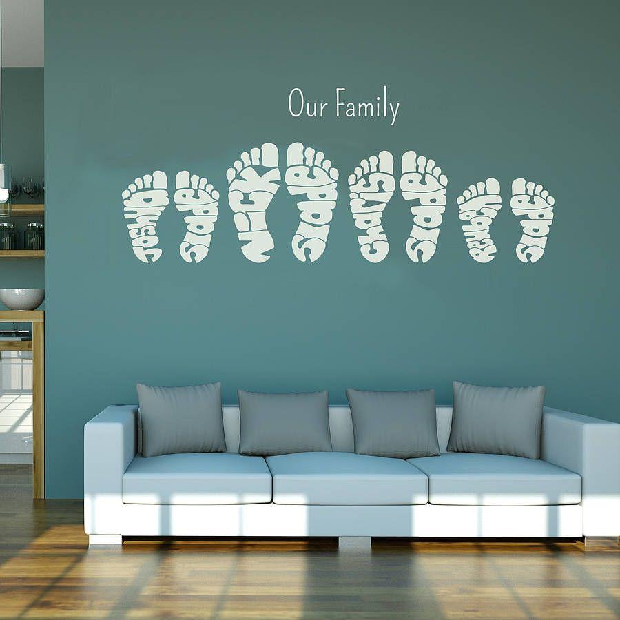 Personalised Footprint Wall Art Stickers Decoracion De Unas Decoracion Hogar Disenos De Unas