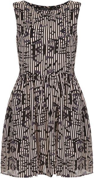 Arrow Ikat Flippy Dress