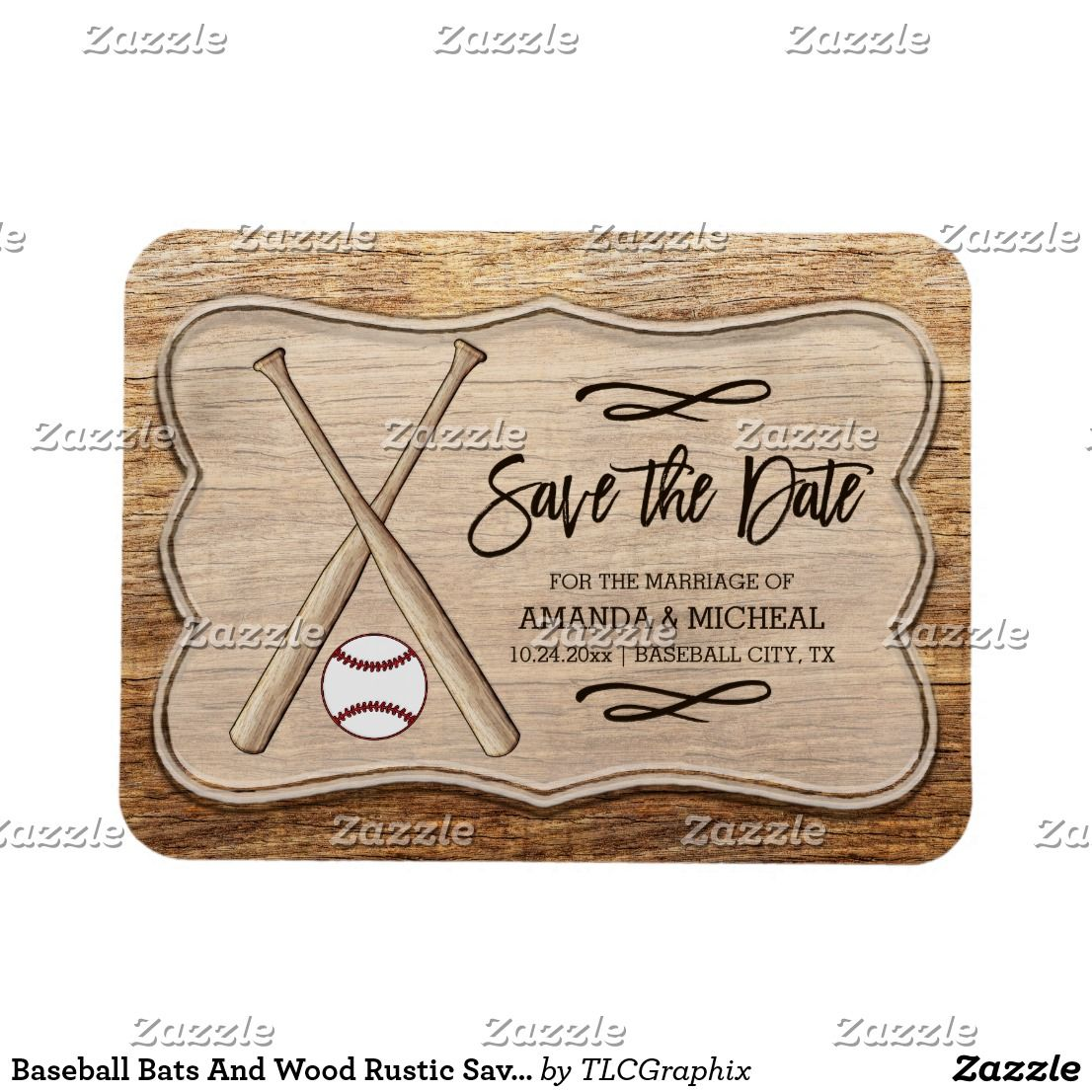 save the date magnets baseball bat www