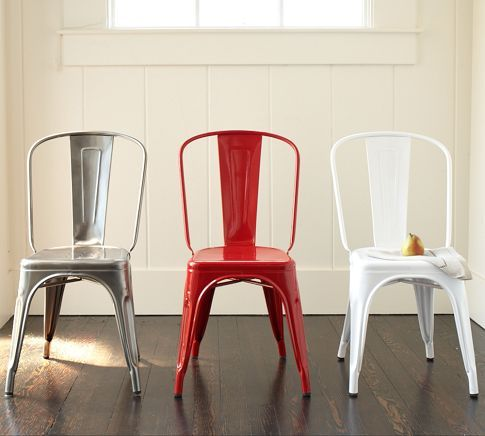 Beau Tolix™ Cafe Chair | Pottery Barn   Probably Too Cold And Weird And  Expensive $269