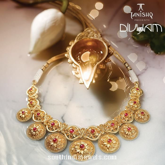 Gold Necklace Designs from Tanishq Divyam Collections | Necklace ...