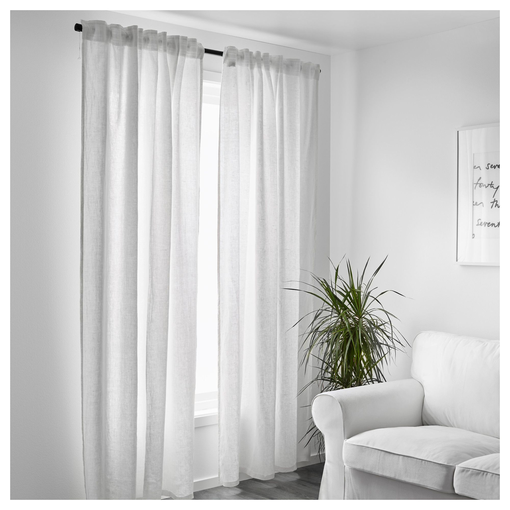 Aina Curtains 1 Pair White 57x98 - Ikea Vorhang Theresia
