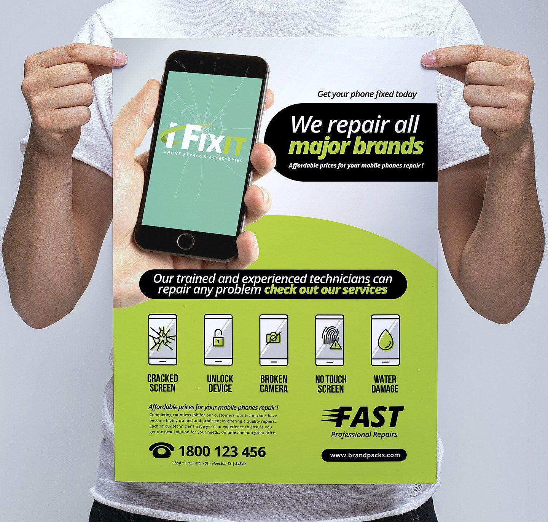 Phone Repair Shop Poster Template Phone Repair Mobile Phone Shops Cell Phone Repair Shop