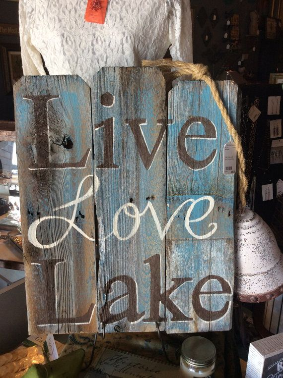 Hey, I found this really awesome Etsy listing at https://www.etsy.com/listing/222305716/rustic-wood-hand-painted-lake-sign