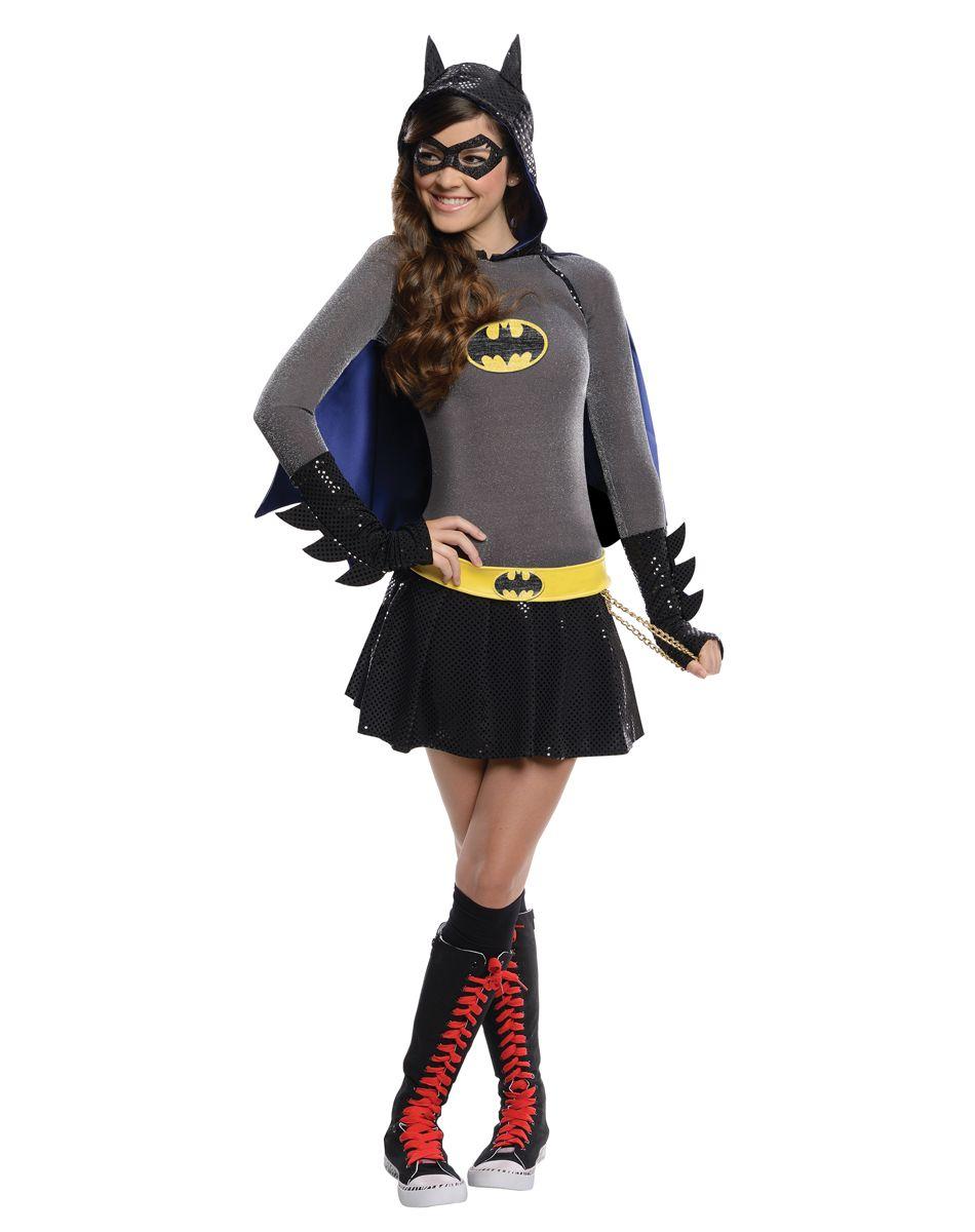 Adult Womens Batgirl Crop Top Bat Shirt Halloween Costume