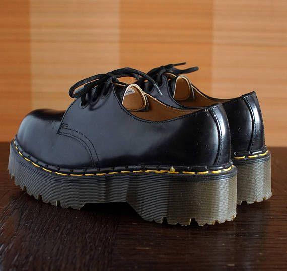 4ac27a695711 Dr Martens black platform shoes UNIQUE made in England vintage shoes DOCS drmartens  Grunge 90s shoes
