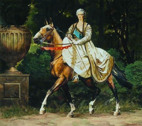 Equestrian Catherine Ii Horse Art Horses Art