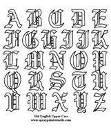 Old English Style Letters Alphabet