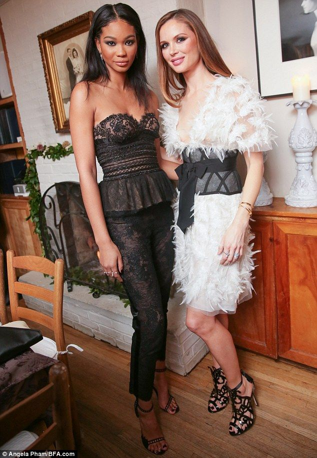 A great avert for it: The guests all wore pieces of footwear from the newly launched colle...