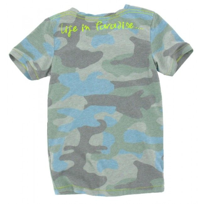 Vingino jongens t-shirt haner groen camo blue - Schweigmann