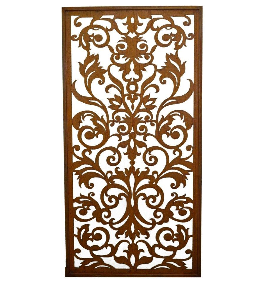 edelrost paravent 39 rokoko 39 h he 200 cm breite 100 cm edelrost deko rococo decor und rugs. Black Bedroom Furniture Sets. Home Design Ideas