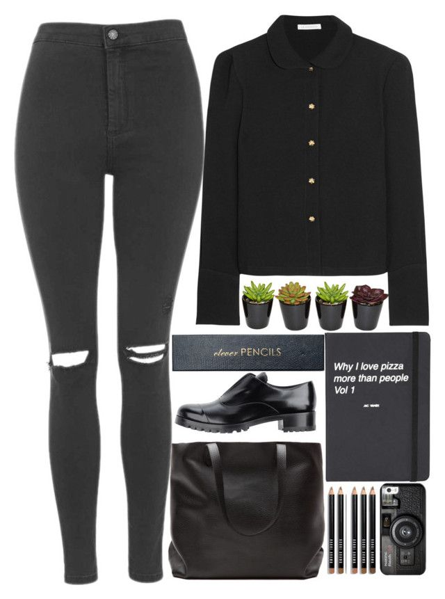"""""""Is it too late to come on home?"""" by annaclaraalvez on Polyvore featuring moda, J.W. Anderson, Topshop, Miu Miu, Sloane Stationery, Bobbi Brown Cosmetics e Casetify"""
