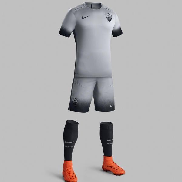 a77dfb064e Roma Third Kit 15 16 Uniformes Futebol