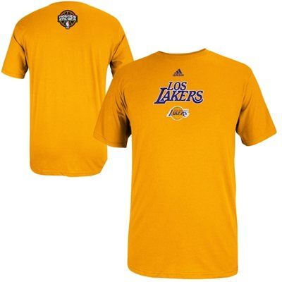 2016 NBA adidas Los Angeles Lakers 2014 Noches Enebea T-Shirt - Gold
