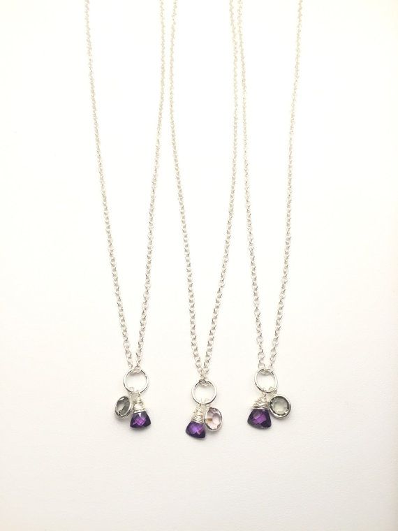 Swarovski Amethyst Crystal Necklace-Crystal by AudriasPrettyPieces