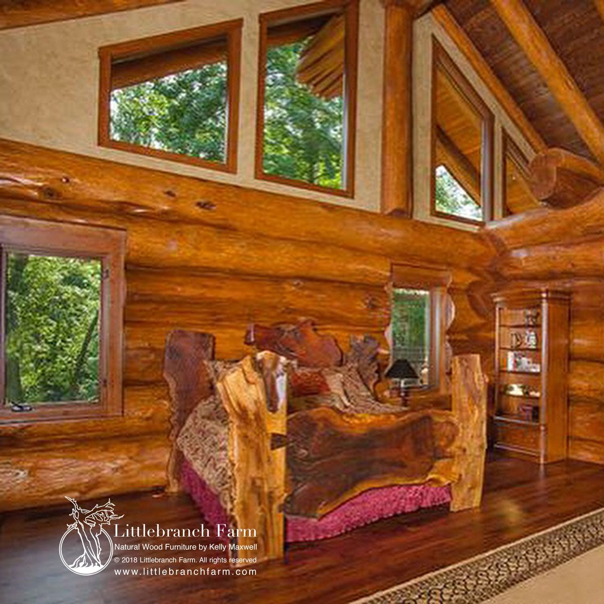 Rustic Beds natural wood bed and wood platform bed