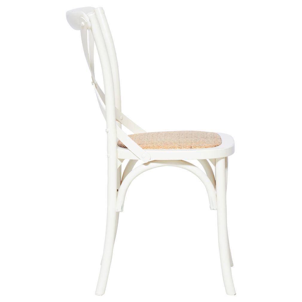 Melrose Cross Back Dining Chair White Matt Blatt In 2020 Cross Back Dining Chairs Dining Chairs Timber Dining Table