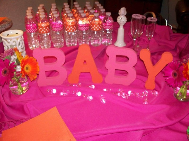 colorful baby shower decorations. Hot pink and orange baby shower www loveisinbloomevents com Best 25  Orange showers ideas on Pinterest Cute