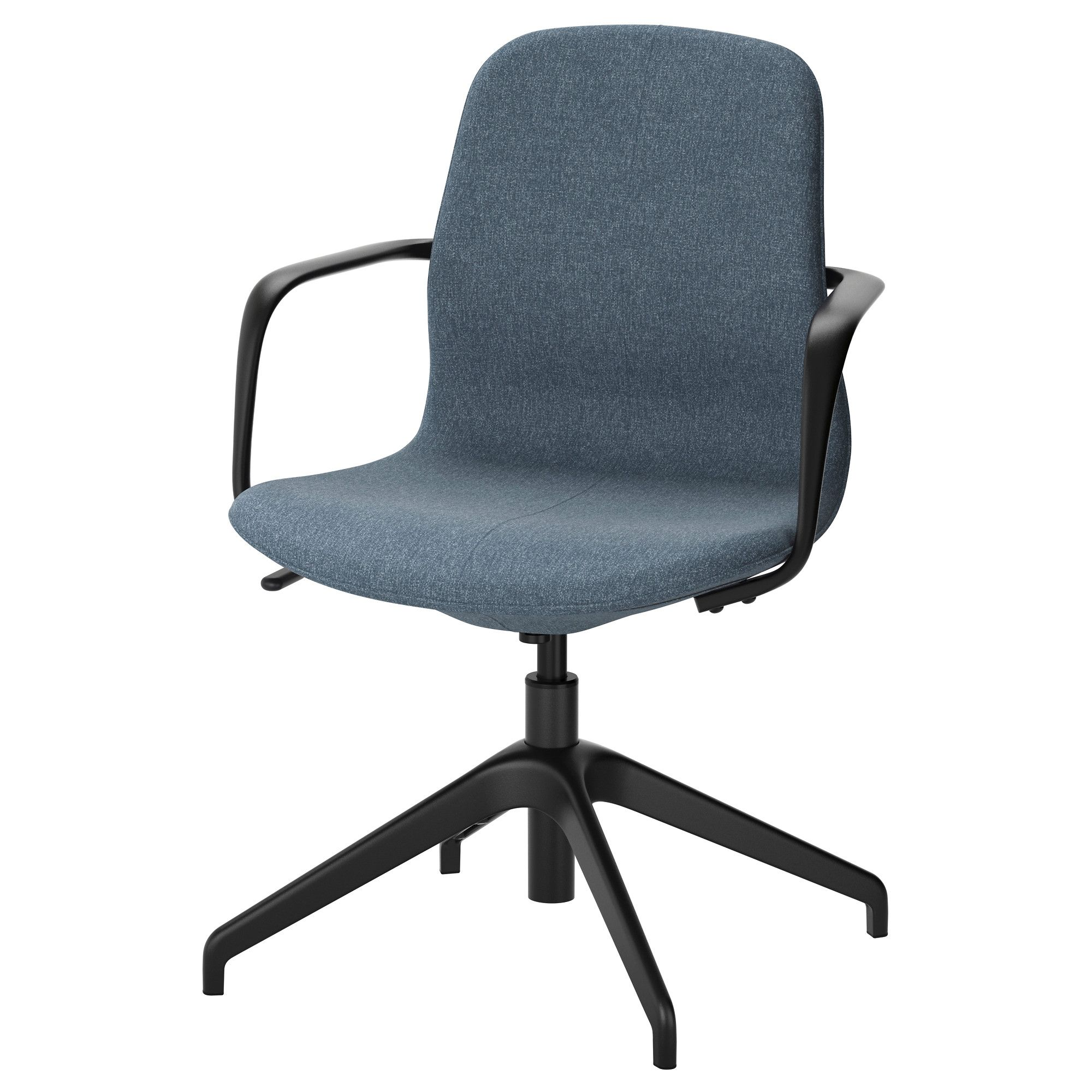 Farben des wohnraums 2018 lÅngfjÄll swivel chair gunnared blue black in   praxis