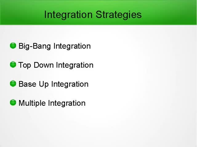 Some Different Types Of Integration Testing Are Big Hit Top Down